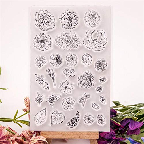 Welcome to Joyful Home 1pc Flower Background Rubber Clear Stamp for Card Making Decoration and Scrapbooking
