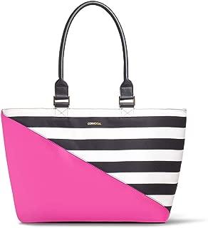Corkcicle Cooler - Virginia Tote - Pink/Stripe