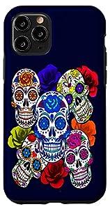 Sugar Skulls and Roses Mardi Gras Skull Holiday iPhone Case