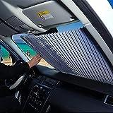 FBARTL Parabrisas del Coche Parasol, Estilo de acordeón Retractable automático Parabrisas Delantero Parasol Protector Solar Aislante Protector Solar (70 cm para MPV/SUV)