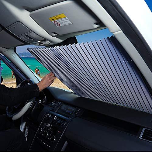 FBARTL Auto-Windschutzscheiben-Sonnenschutz, Akkordeon-Typ Automatische einziehbare Windschutzscheiben-Sonnenblende Sonnenschutzdämmungs-Sonnenschutz (70 cm MPV/SUV)