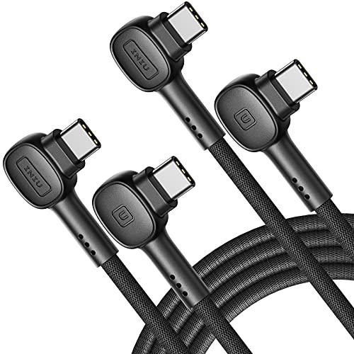 INIU Cable USB C, [100W, 2m+2m] 20V/5A PD QC4.0 carga rápida USB C a cable USB C, cargador de teléfono trenzado tipo C cable de datos para Samsung S20 Note 10 8 Xiaomi Huawei iPad Pro MacBook Air etc