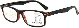 Progressive Multifocal Anti Blue Light Reading Glasses for Men and Women,Anti Blue Light Reading Eyewear with Anti-Fatigue...