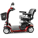 VICTORY 9 Pride 4-wheel Electric Mobility Scooter SC709 Red + Accessories