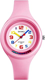 Kid's Colorful Quartz Analog 50M Waterproof Sport Watches for Children Girls and Boys