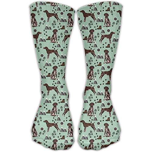 hgfyef Deutsch Kurzhaar Zeiger Hund Kausalsocken Crew Socken Elite Socken Crazy Socks 11.2