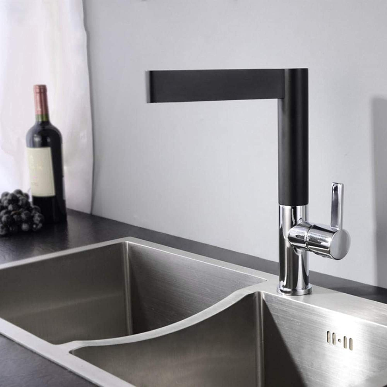 Gorheh Schwarz Küchenarmatur 360 Rotierenden Schwarzen Chrom Spülbecken Wasserhahn Kalt Und Warm Mischbatterie Küchenmischer