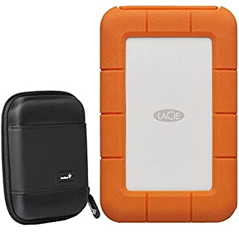 LaCie Rugged 5TB USB-C External Hard Drive  STFR5000800  with Compact Portable Hard Drive Case