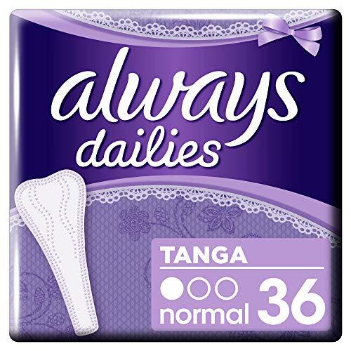 Always Dailies Slipeinlagen Damen Tanga (36 Einlagen) Für Ein Gefühl Von Frische, Passend Für String Und Tanga