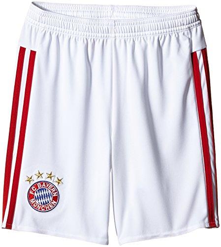 adidas Kinder Shorts Fc Bayern Auswärts, White/Power Red, 176