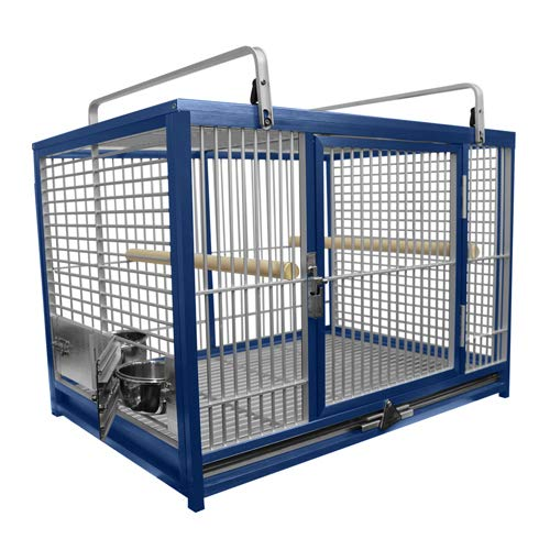 Large Aluminium Parrot Travel Carriers CAGE ATM 2029 Bird Cages (Blue)