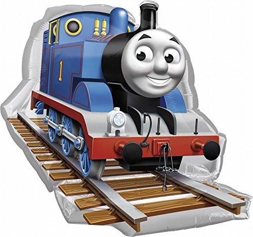 Amscan Anagram 2481701 - Party und Dekoration - Folienballon SuperShape - Thomas die kleine Lokomotive, circa 74 x 69 cm