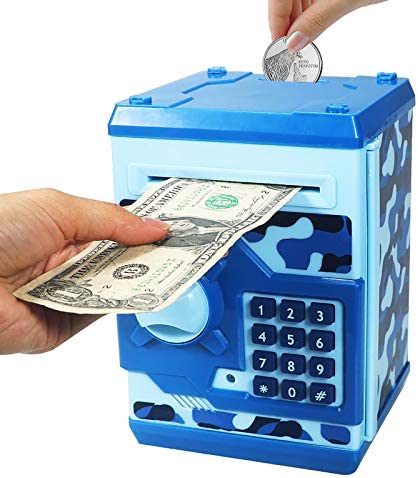 Brekya Mini ATM Piggy Bank Security Machine Best Gift for Kids Electronic Code Piggy Bank Money product image