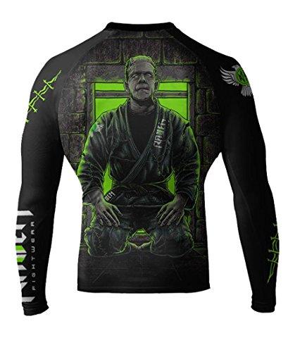 Raven Fightwear Men's BJJ Horror Frankenstein's Monster MMA Rash Guard Large