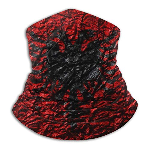 NA Neck Gaiter Headwear Face Sun Magic Scarf Bandana Balaclava Flag of Albania Stone Texture