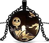 Halskette Männer S Halskette Weihnachtsnacht Glas Anhänger Halskette.Halskette Halskette glamour