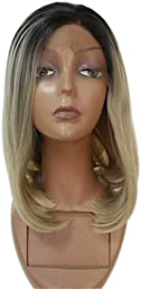 Remeehi Short Straight Bob Full Head Wigs None Lace Full Head Wig For Women 1b/613# 10inch