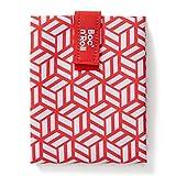 Roll'Eat - Boc'n'Roll Tiles | Borsa Porta Panini, Sacchetto Riutilizzabile ed Ecologico Senza BPA, Rosso