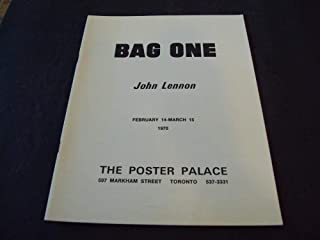 Bag One John Lennon Feb14-March 15 1970 The Poster Palace Art Show