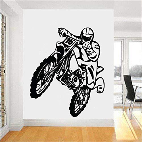 Calcomanía de pared de motocicleta Motocross, pegatina de vinilo para ventana de motocicleta, motocicleta, adolescente, dormitorio, hombre, cueva, decoración del hogar, papel tapiz de estilo fresco