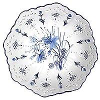 JIEYJIEキッチン用品 10インチ中国風フルーツプレートセラミック中空フルーツトレイコンポートクリエイティブリビングルームコーヒーテーブルデコレーションホームフルーツバスケットボウル