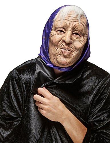 DEGUISE TOI - Masque Latex Vieille Dame Adulte - Taille Unique