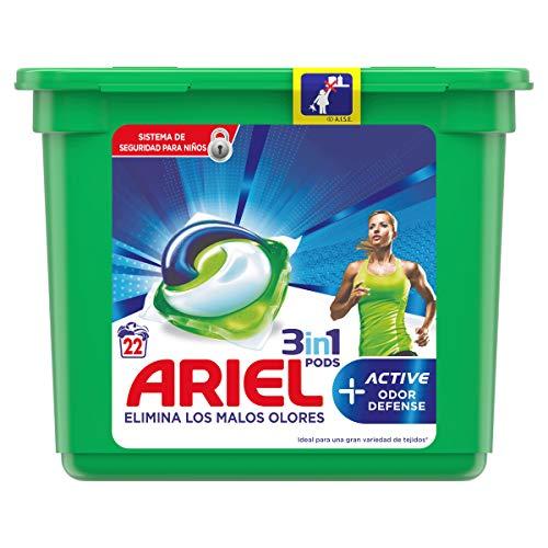 ARIEL Pods detergente máquina 3 en 1 active en cápsulas 24 uds