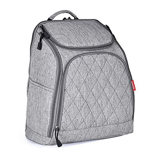 TFTREE Wickeltasche große wasserdichte Reisetasche für Baby Umstandsmode Umhängetasche Isolierung Isolierung kann mit Kinderwagen Damen Rucksack verwendet werden-grey