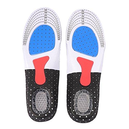 Fastar Plantillas Gel Deportivas para Hombre y Mujer Calzado de Baloncesto de fútbol Zapato del Deporte Pad Plantillas ortopédicos