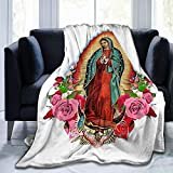 Our Lady of Guadalupe Throwing Blanket Super Soft Micro-Fleece Blanket, Soft and Stylish Warm Blanket for Adult Parents and Children On The Sofa Bed Suitable for All Seasons80 X60