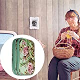 knowledgi - Bolsa de Almacenamiento para Agujas de Ganchillo (Bolsa de Viaje para Diferentes Agujas de Ganchillo y Accesorios, Ligera y fácil de Transportar, diseño de peonías Verdes (sin Accesorios)