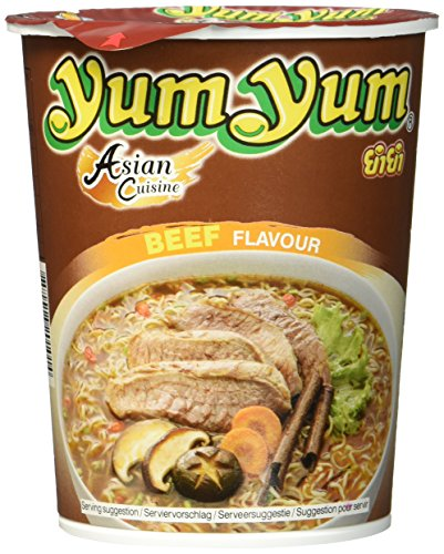 Yum Yum Instant Nudeln Rind Cup, 12er Pack (12 x 70 g)