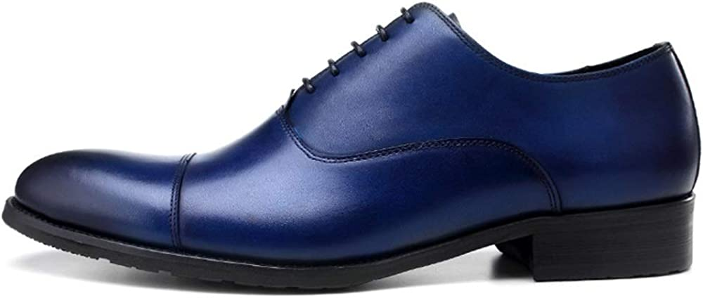 Rui Landed Oxford for Men Formal Shoes Lace Up Style Genuine Leather Solid Colors Cap Toe Business Europe and America Shallow Mouth Pointed