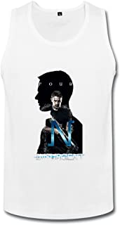 男性 ファッション 映画ダイバージェントのポスター タンクトップ 100%棉 White