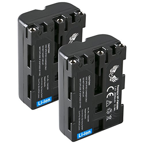 2X SK Akku Sony NP-FM500H (2040mAh) für Sony Alpha 57 77 99 A57 A58 A65 A68 A77 A99 DSLR-A200 A350 A450 A580 A700 A850 A900 NP-FM500