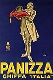 KEAPSIGN Targa in metallo retrò classico – Panizza Ghiffa Italia Vintage Cappello Italiano Pubblicità – Targa vintage classica decorazione da parete 20 x 30 cm