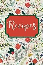 Recipes: Blank Recipe Book, Create Your Own Cookbook (Winter Series) (Volume 3)