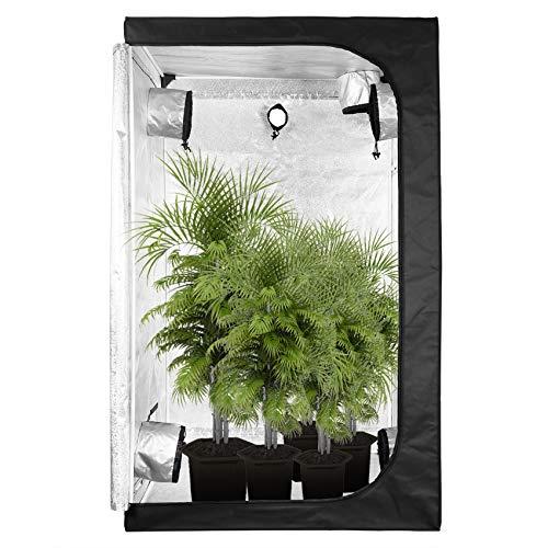 GA Grow Tent C-Series Reflective Mylar Hydroponic Grow Tent with Waterproof Floor Tray for Indoor Plant Growing (120x120x200CM-C)