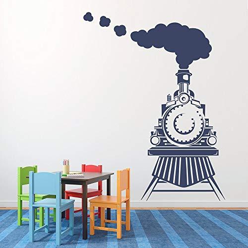 Tren de dibujos animados vinilo adhesivo de pared tren delantero adecuado para niñas niños niños