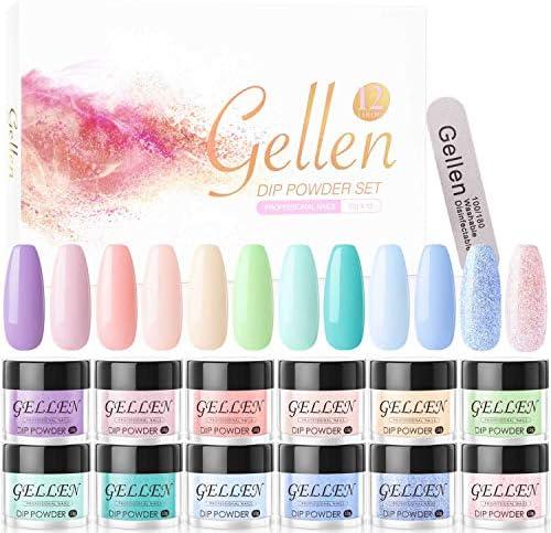 Gellen Dip Powder Nail Kit 12 Colors Dipping Powder Acrylic Nails System No Nail Lamp Needed product image