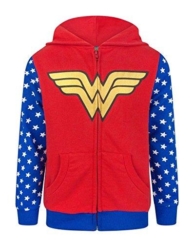 wonder woman logo girls zip