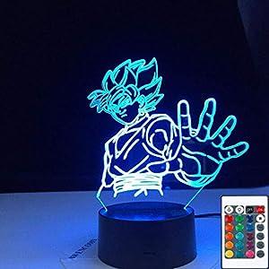 3D Illusion Lamp Led Night Light Goku Dragon Ball Zamasu Super Black Touch Sensor Colorful for Kids Child Bedroom Decoration Table Lamp