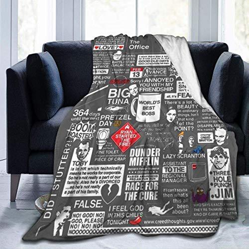 Manta de forro polar ultra suave con impresión 3D, palabras sabias de la sábana de la manta de la oficina para la cama del hogar, sofá, dormitorio, 60 x 50 pulgadas