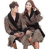 Le Long Peignoir léopard des Hommes et des Femmes vêtements à la Maison réchauffe...
