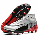 Qzzsmy Soccer Shoes Unisex's AG Cleats Training Long Studs High-Top Football Shoes CD1808-M2-39
