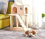 Sólido de sisal gato madera columpio para gatos gran villa casa de...