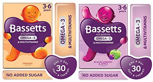 Bassetts Multivitamins Kids 3-6 Blackcurrrant and Apple Flavour and Orange Flavour x2 Bundle