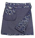 Sunsa Damen Rock Minirock Sommerrock Wickelrock aus Jeans & Baumwolle, 2 Röcke in einem, mit Abnehmbarer Tasche, Größe verstellbar, Frau Bekleidung, Geburtstag Geschenk für Frauen 15735