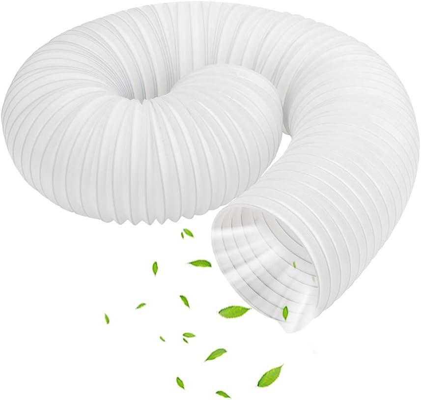 Manguera Aire Acondicionado Portatil, Piezas de Repuesto de Tubo flexible de salida de aire de PV Escape de Aire Acondicionado Flexible Universal, Tubo Aire Acondicionado-15cm Diámetro,1.5m Longitud
