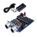 AONTOKY Ultrasonic Ranging Alarm Learn to Solder Electronics Kit for Soldering Practicing DIY Kit with HC-SR04 Ultrasonic Sensor Module